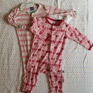 Two 3-6mo one piece pajamas